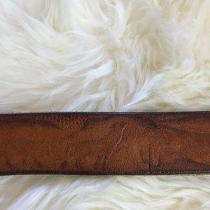 Vintage Desert scene leather belt